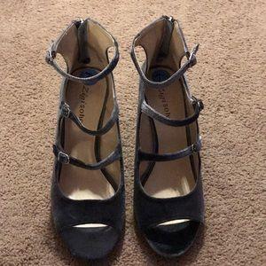 Velvet dress shoes